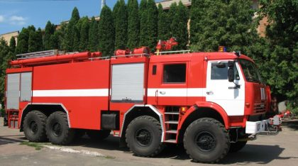Fire-fighting aerodrome trucks
